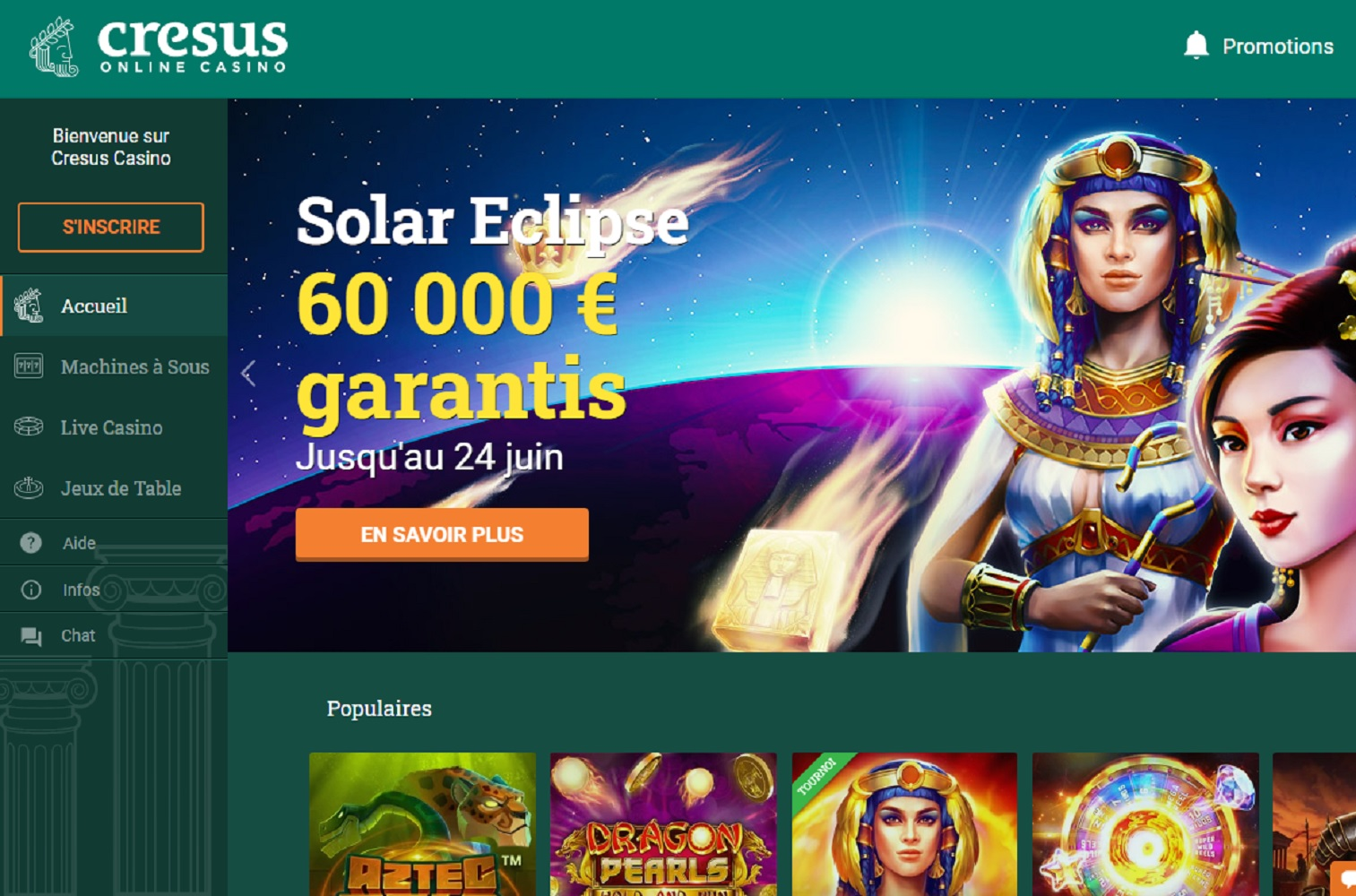 podium casinos en ligne